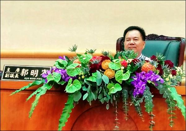 嘉市副議長郭明賓涉賄向檢方請假,於選後26日到案。(資料照)