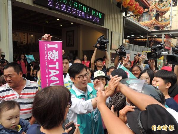 陳其邁認為,從過往經驗,中國介入台灣選舉非常明顯。(記者王榮祥攝)