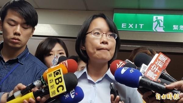 吳音寧證實,她上任北農總經理後未從中國進口水果。(記者楊心慧攝)