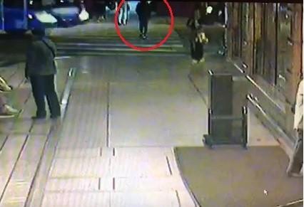 洪姓少女過馬路卻遭遊覽車撞死。(記者王冠仁翻攝)