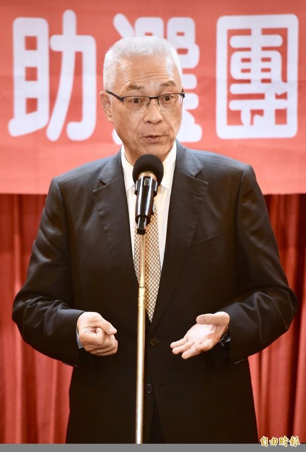 吳敦義的母豬說竟促成藍綠大和解,雙方意見一同表示希望他盡速下台,以為此次言行負責。(資料圖)
