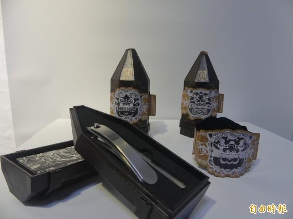 藝鳴金揚設計大賽作品「砲製金刀」勇奪被視為「設計界奧斯卡」的德國紅點設計大獎。(記者吳正庭攝)