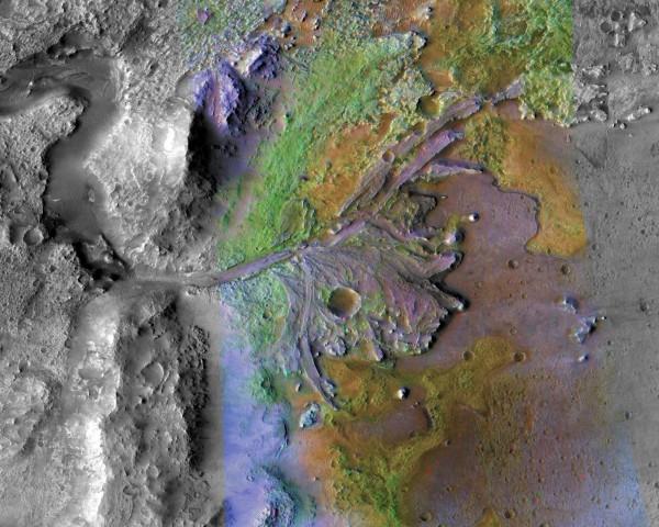 人類探索火星的進度又更進一步,美國太空總署(NASA)19日宣布「火星2020」的著陸地點。(法新社)