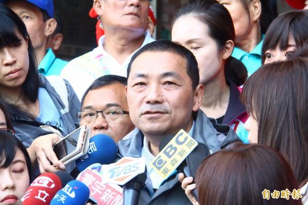 對於女兒被媒體曝光,侯友宜說,相信台灣社會治安不會有影響,好好過她的生活才最重要。(記者邱書昱攝)