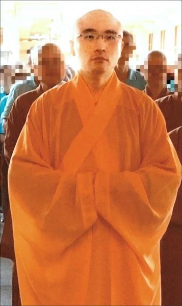 本名謝仁豪的知名僧人開泓法師遭爆涉嫌吸毒並開淫趴,昨遭警方逮捕。(資料照)