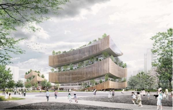 市立圖書館總館興建工程歷經4次招標,才完成評選,預估2021年底完工。(記者謝武雄翻攝)