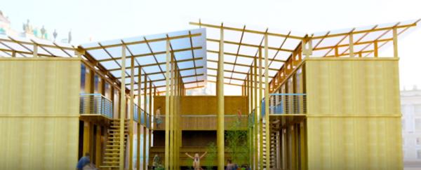 竹屋望可解決貧民住房危機,4小時即可搭建完成。(圖擷自youtube)