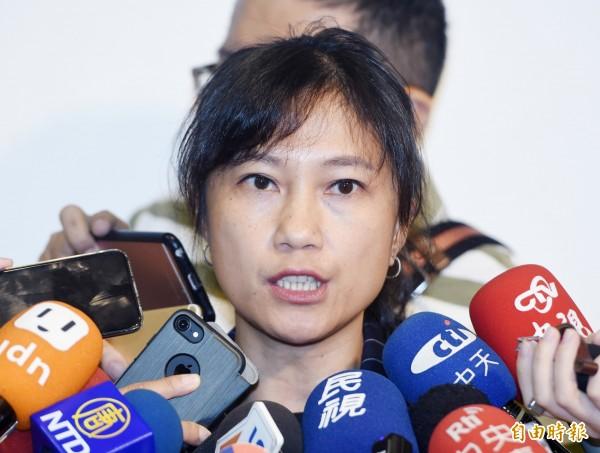 行政院發言人Kolas Yotaka表示,政府推動2025非核家園的目標不變。(記者廖振輝攝)
