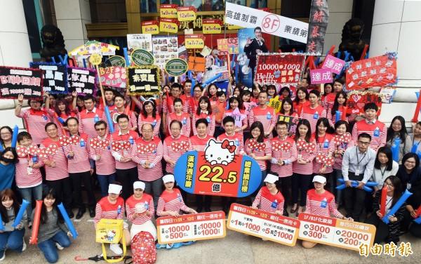 高雄百貨周年慶漢神百貨後天壓軸登場,業績目標上看22.5億元。(記者張忠義攝)