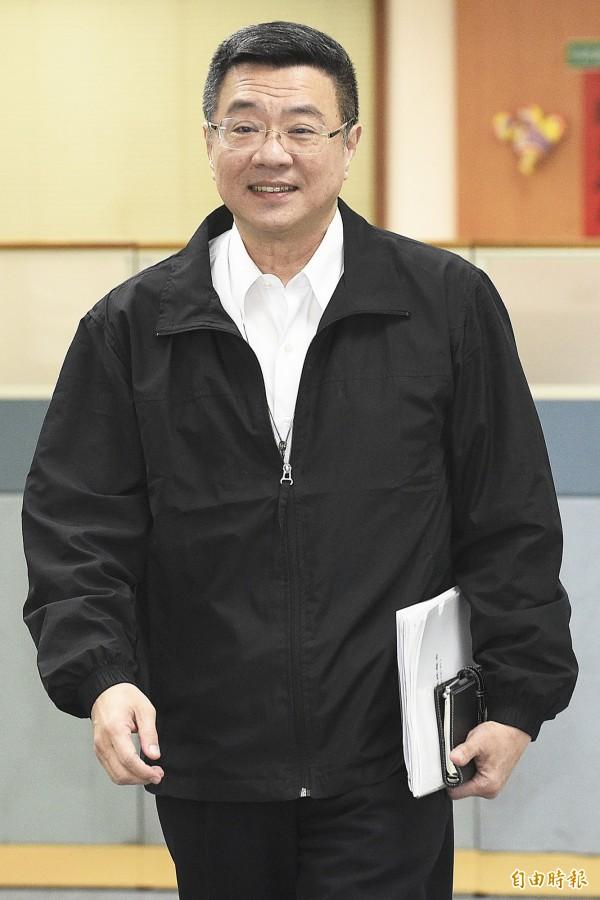 卓榮泰說,他無法認同段宜康的言論,「這如果是黨的認同的結果,那我就請段宜康你出來選黨主席!」(資料照)