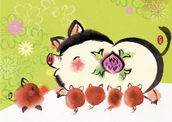 中華郵政今天宣布,將於12月3日發行「新年明信片107年版」2款。(中華郵政提供)