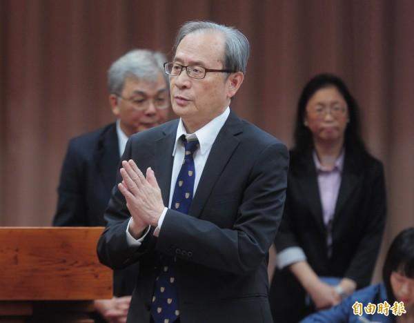 原能會主委謝曉星今在立法院受訪表示,政府尊重民意,昨晚行政院已經放寬2025期限,所以已經沒有2025非核家園,年限已經拿掉。(資料照)