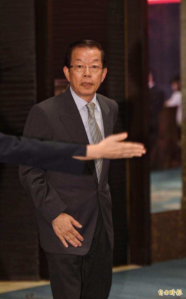 駐日代表謝長廷出席「台日經濟貿易會議」開幕式。(記者劉信德攝)