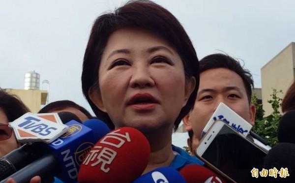 大選結束後,國民黨籍台中市長候選人盧秀燕大勝民進黨候選人林佳龍20萬多票贏得選戰。(資料照)