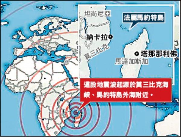 地震位置圖