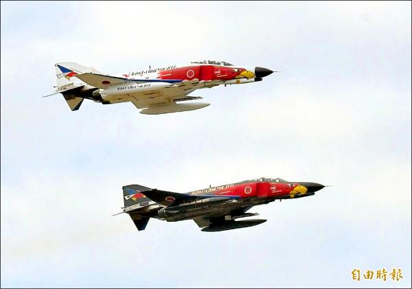 F-4「幽靈式」戰機。(記者游太郎攝)