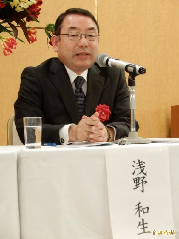 出席「台灣有事與日本的應對」研討會的平成國際大學教授淺野和生。(記者林翠儀攝)