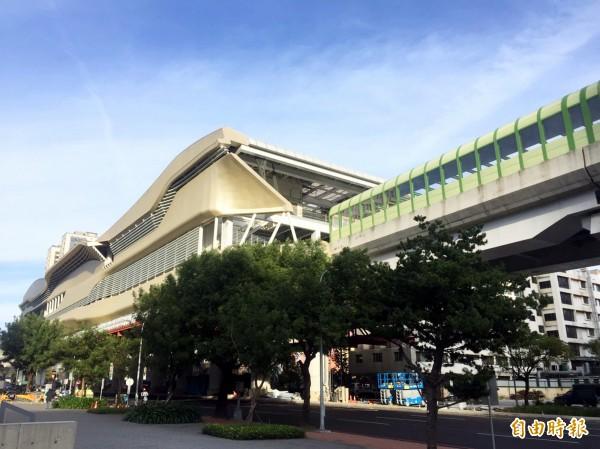 台中捷運綠線將在2020年通車。(記者張菁雅攝)