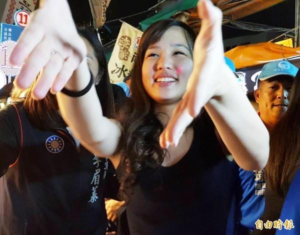 爸爸韓國瑜當選高雄市長,韓冰的人氣也扶搖直上。(資料照,記者陳文嬋攝)