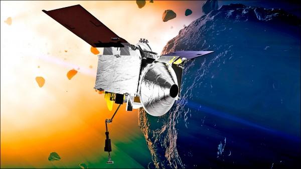 圖為歐塞瑞斯號飛抵貝努的想像圖。(美聯社檔案照)