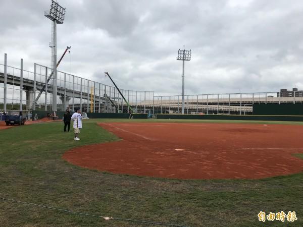 三重棒球場16日將舉辦新北富邦國際城市U18棒球邀請賽。(記者陳心瑜攝)