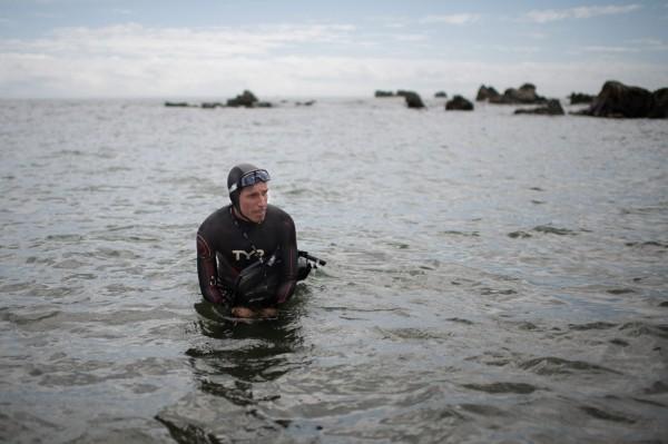 51歲的法國泳將勒肯特(Ben Lecomte),從日本千葉縣海域游到夏威夷歐胡島。(法新社)