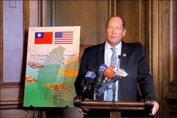 游賀(見圖)認為,「台灣是一個國家,是時候接受並認清這一事實」。(中央社,資料照)