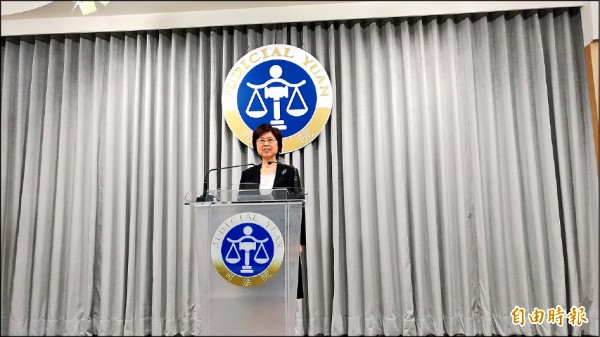 大法官昨天做出第七七一號解釋,認定繼承權屬於不可剝奪、永不喪失的權利。圖為司法院副秘書長葉麗霞。(記者吳政峰攝)