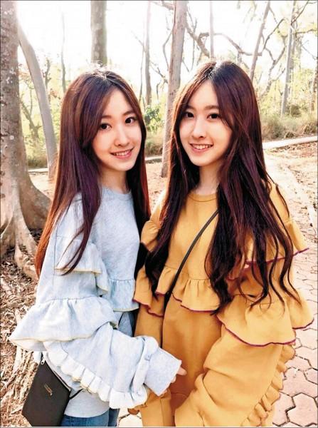 舞蹈冠軍雙胞胎姊妹花周玗希(左)、周玗函錄取清華大學拾穗計畫。(清大提供)