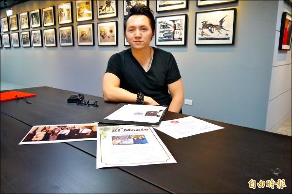 陳永昶參加人生第一場繪畫比賽,意外改變了一生。(記者吳政峰攝)