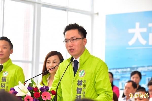 高雄市新科議員林智鴻。(資料照)
