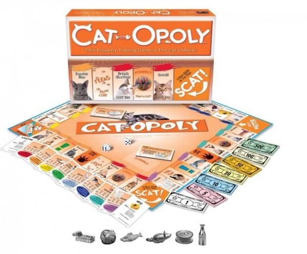 最近網路商店亞馬遜上竟然出現了貓版的《大富翁》,不像傳統的《大富翁》要買地、買房,而是要買貓、幫貓咪清蝨子,征服了不少貓奴。(圖擷取自Amazon)