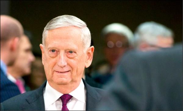 美國防部長馬提斯將在明年去職。(美聯社檔案照)