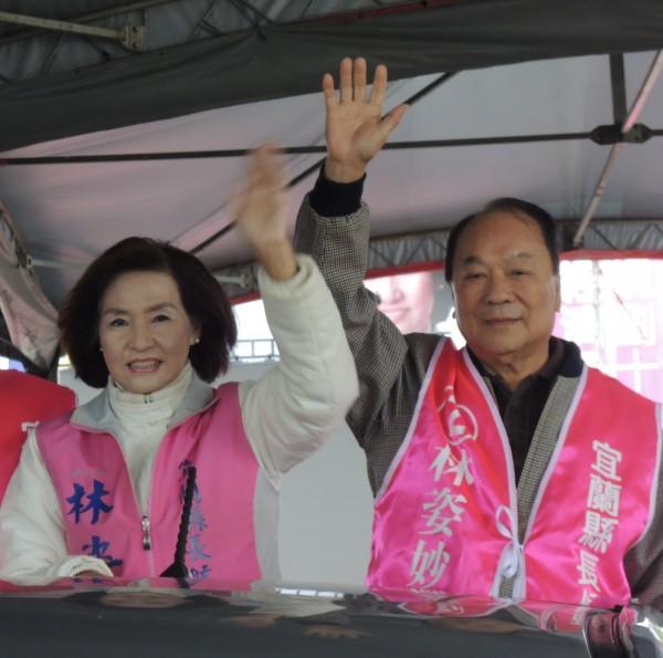 宜蘭縣長當選人林姿妙(左),延攬前立委林建榮(右)出任副縣長。(資料照,記者江志雄攝)