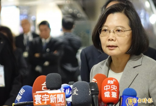 總統府緊急發出3點澄清,反駁律師鄭文龍的指控跟事實不符。圖為總統蔡英文。(資料照,記者姚介修攝)
