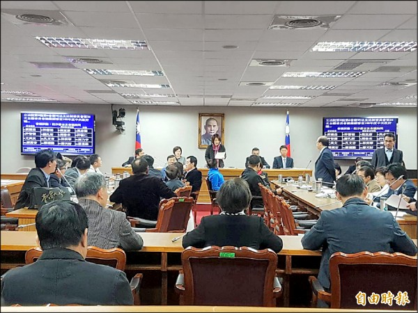 立法院司法法制委員會審查促轉會預算。(記者謝君臨攝)