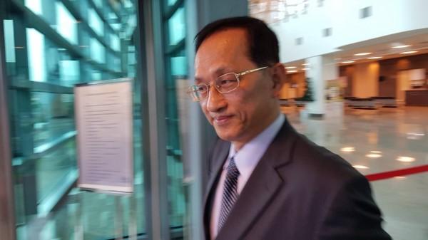 同為台大校長候選人的台大電機系教授吳瑞北。(記者溫于德攝)