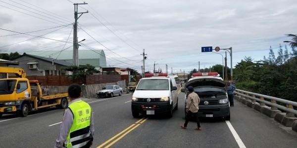 林姓男子酒駕上路,途中逕自迴轉,害救護車撞上。(記者陳賢義翻攝)