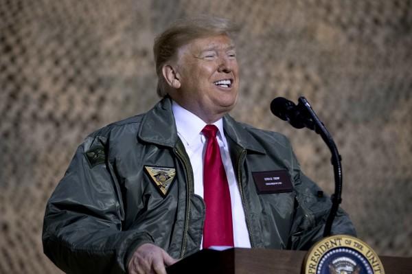 全美最受景仰男性中,現任美國總統川普(Donald Trump)以13%居次,他已連續4年排行第2。(美聯社)
