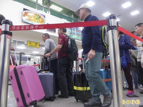 金門小三通往來便捷,去年旅客量又創歷史新高。(記者吳正庭攝)