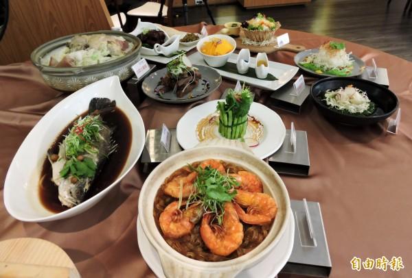 「正月初一」新台灣料理在春節前推出一系列新菜。(記者張菁雅攝)