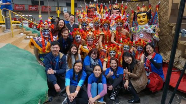 中華航空與外交部、交通部觀光局合作,推出三太子主題花車參與美國玫瑰花車遊行。(中央社)