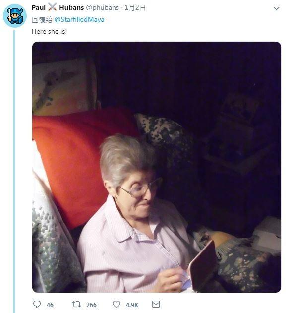87歲老奶奶超愛玩《動物之森》。(圖擷取自twitter)