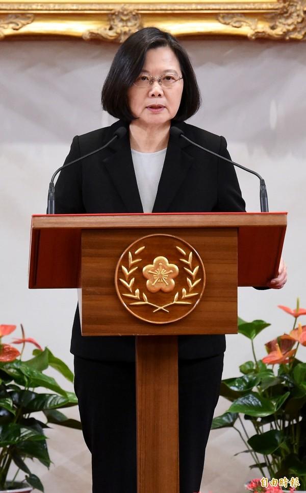 蔡英文總統回擊中國領導人習近平,直指台灣絕對不可能會接受一國兩制,但中國媒體不知為何幾乎沒有報導蔡英文的回應。(資料照)