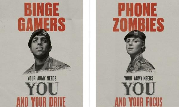 英國缺兵狀況嚴重,2日張貼募兵新影片,盼吸引愛玩電動、手機成癮等平時不被社會大眾接受的年輕人入伍,因為「軍隊能了解你的潛力」。(圖擷取自armyuk網站)