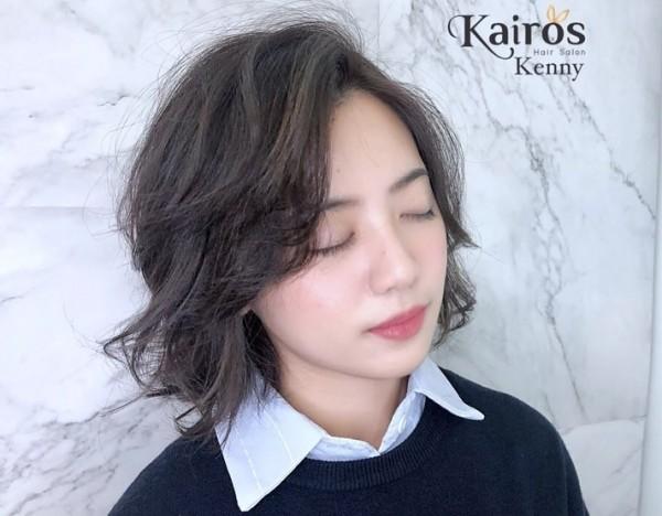學姊黃瀞瑩昨天染髮改變新造型,讓男網友大呼戀愛了。(圖擷取自「Kairos Hair Salon」臉書粉專)