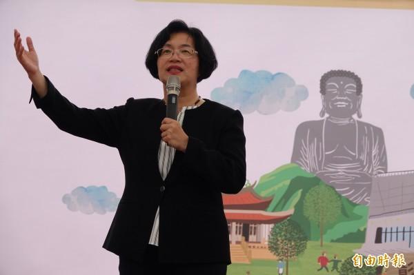 彰化縣長王惠美說,彰化債務超過400億,施政勢必要做改變,該省的省,該花的花。(記者劉曉欣攝)