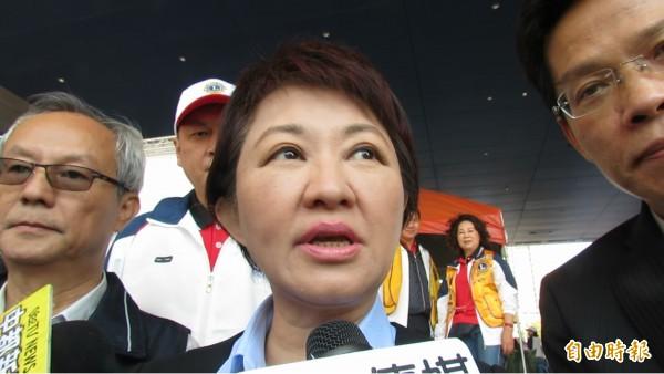 盧秀燕上任2週來屢傳重大治安事件,盧秀燕說,請警方再加強拚治安。(記者蘇孟娟攝)