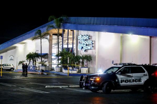 美國加州當地時間5日深夜,位於洛杉磯郊區的托倫斯一間保齡球館驚傳槍擊案,造成至少3死4傷。(路透)