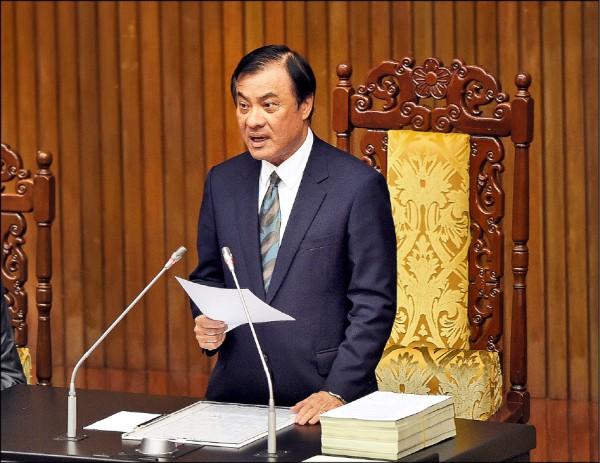 潛艦國造及黨產會預算,立法院長蘇嘉全昨裁示,保留送院會處理。(資料照)